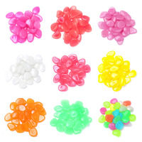 100pcs PACK Colorful Garden Ornaments Stone Glow In The Dark Luminous Pebbles Stones For Walkway Wedding