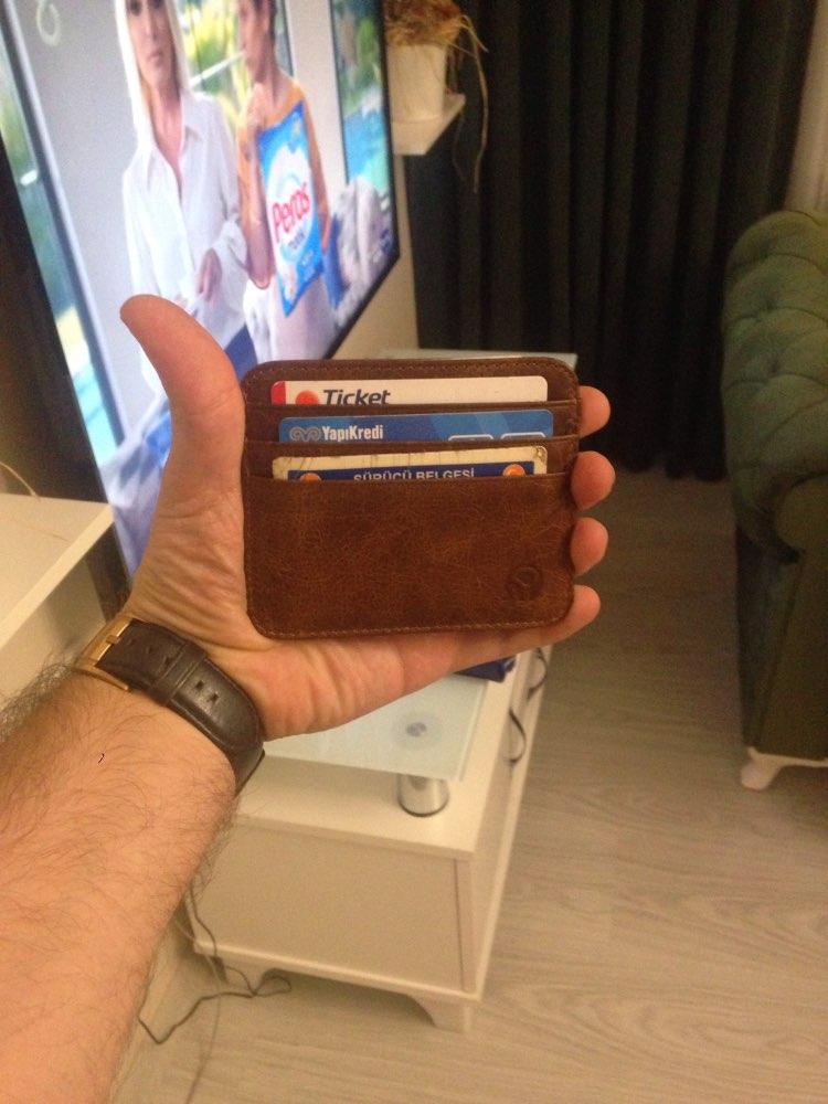 Mode lederen bankkaart geval dunne mini-kaart portemonnee mannen zakelijke id creditcardhouder kaarten pack cash pocket goedkope nieuwe photo review