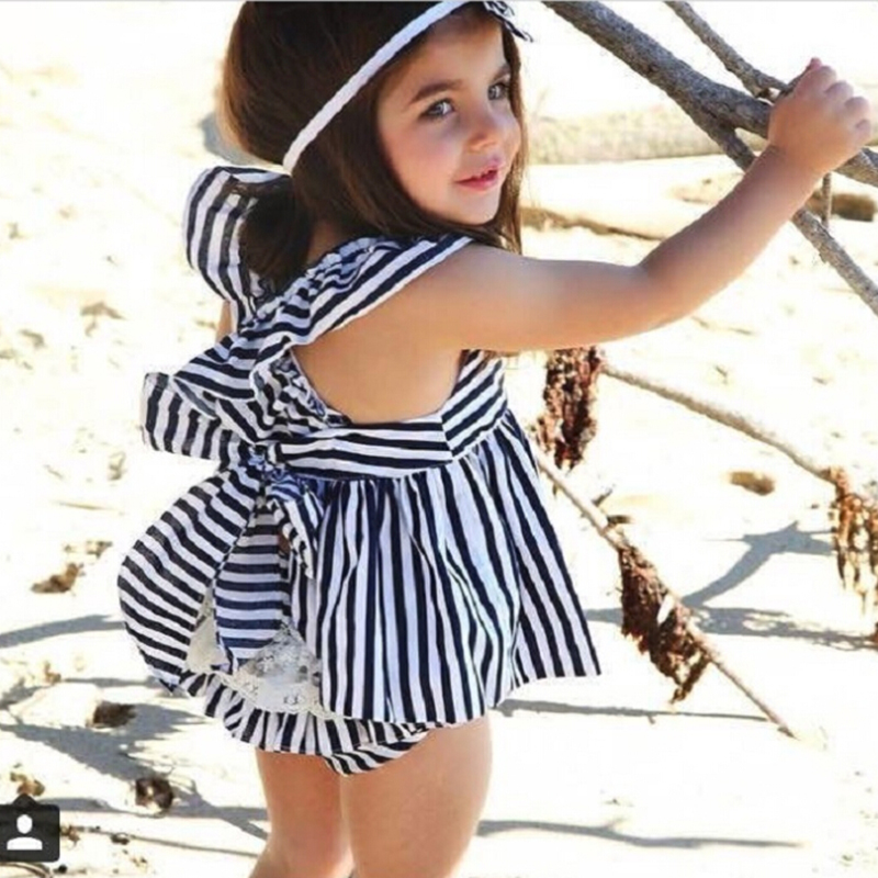 Kids Baby Toddler Girls Cute Princess Dress Sleeveless Bandage lace Dress outfit in Dresses from Mother Kids