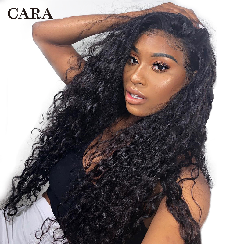 Deep Wave 360 ​​Lace Frontal Peluca Pre Plucked With Baby Hair - Cabello humano (negro)