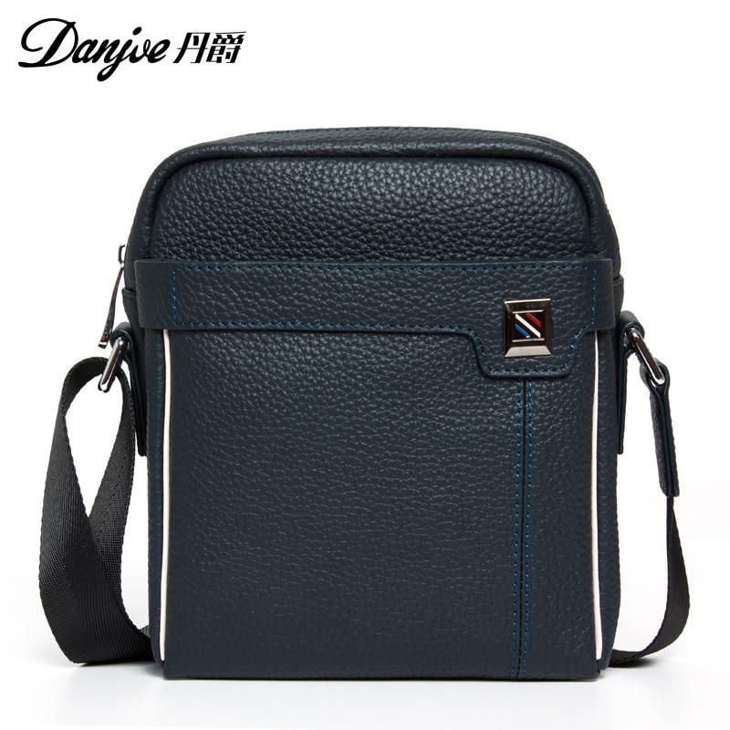 Фото DANJUE Genuine Cowhide Leather Mini Messenger Bag Men Solid Color Crossbody Bag Business Male Flap Shoulder Bag Trendy Men Bag. Купить в РФ