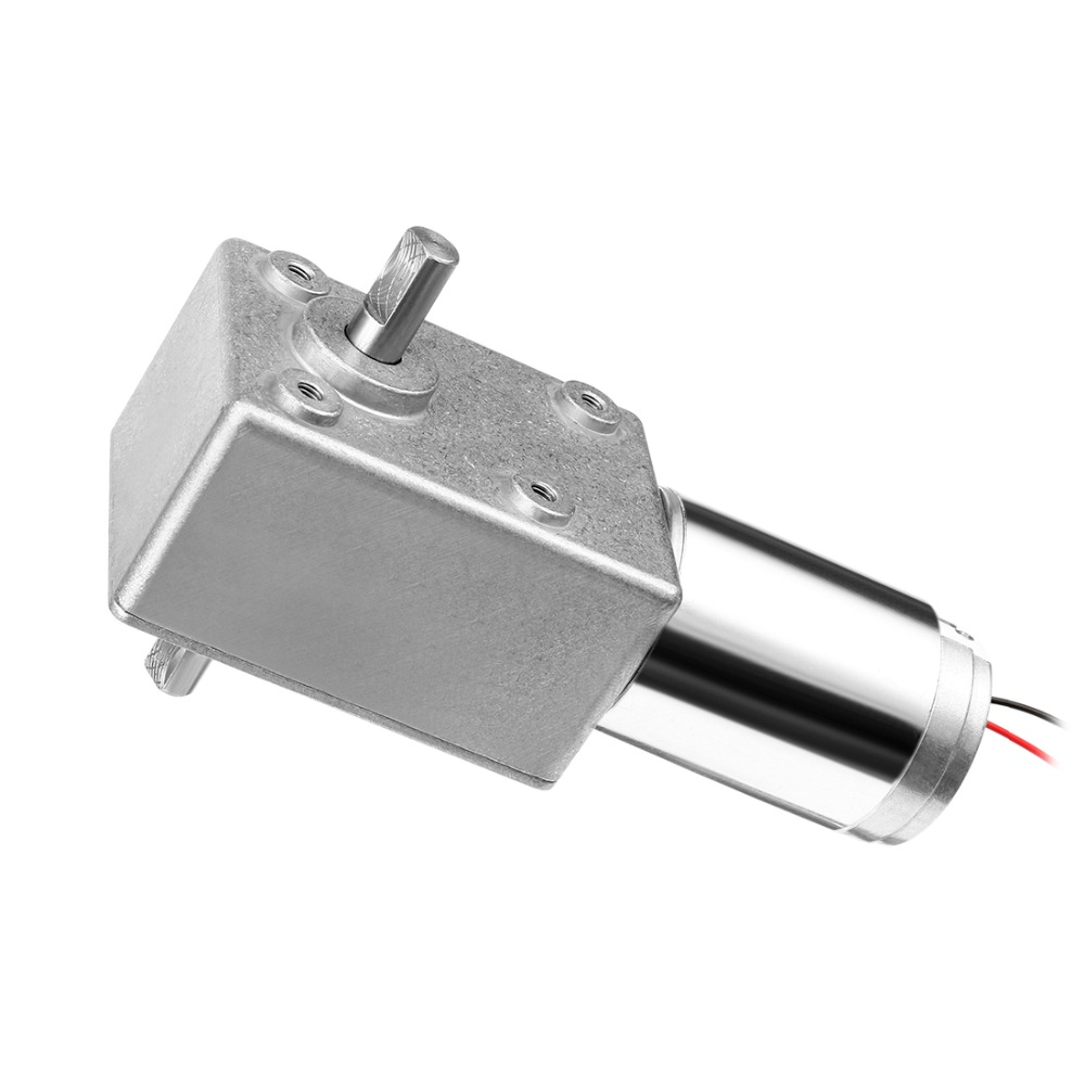 UXCELL DC 12V 5RPM Dual Shafts High Torque Reversible Turbine Worm Gear Motor Reduction Paper Shredders Copying Machines dc 12v 6mm shaft 5rpm high torque turbines worm gear box reduction motor
