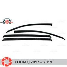 Оконный дефлектор для Skoda Kodiaq 2017 ~ 2019 дождевой дефлектор грязевая Защитная оклейка автомобилей украшения аксессуары литье