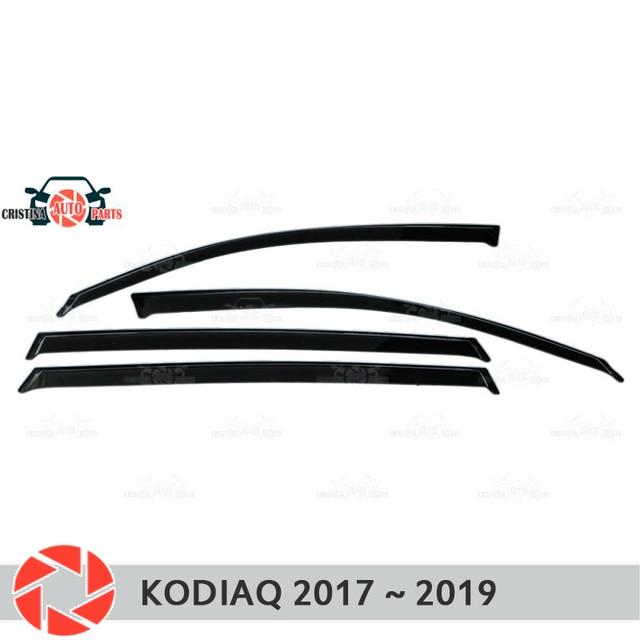 Дефлектор окон для Skoda Kodiaq 2017 ~ 2019, дефлектор дождя, защита от грязи, аксессуары для украшения автомобиля, Молдинг