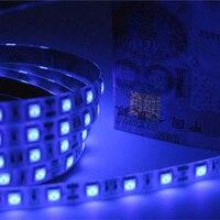 DC12V UV Led Strip nhẹ 5050 SMD 60led/m 5 m Tia Cực Tím Tím Linh Hoạt LED Băng Băng đèn