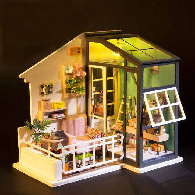 Robotime DG M05 DIY Doll House Miniature With Furniture Wooden Dollhouse  Toy Decor Craft Gift