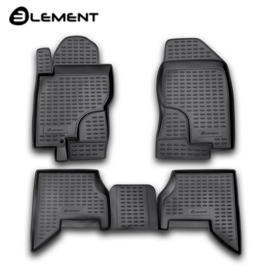 Alfombras de piso en el salón para Nissan Pathfinder III R51 2004-2010 4 unids/set elemento NLC3610210