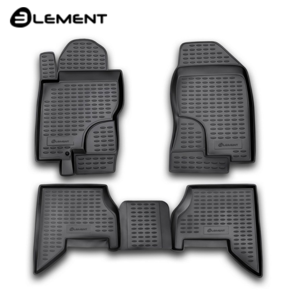 Floor mats into saloon for Nissan Pathfinder III R51 2004-2010 4 pcs/set Element NLC3610210 full set cables for digiprog iii odometer programmer