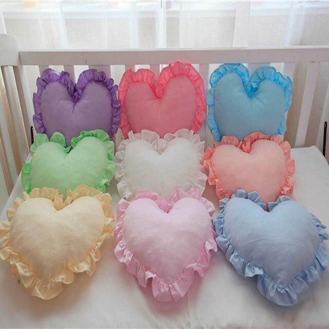 Soft Plush Cushions Chair Seat Cushion Heart Shape Cosy Pillows Bedding  Colorful Home Wedding Cushion Gift