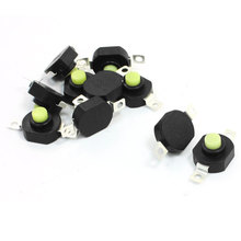 UXCELL Ac 250V 1.5A Horizontal Latching Type Flashlight Push Button Switch 10Pcs цена 2017