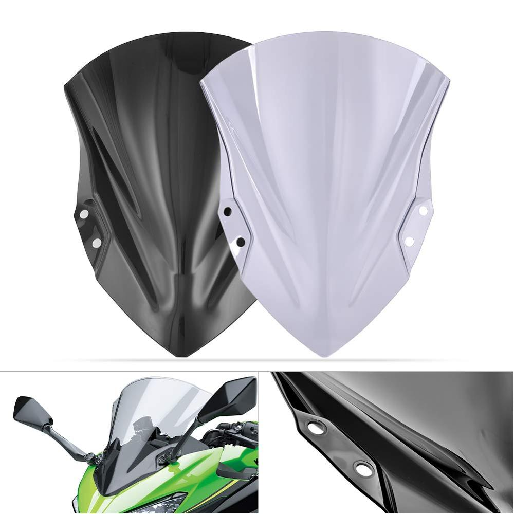 For 2018 2019 2020 Kawasaki <font><b>Ninja</b></font> 250 <font><b>400</b></font> Double Bubble Wind Shield Screen Deflectors Protector Ninja250 Ninja400 windshield image