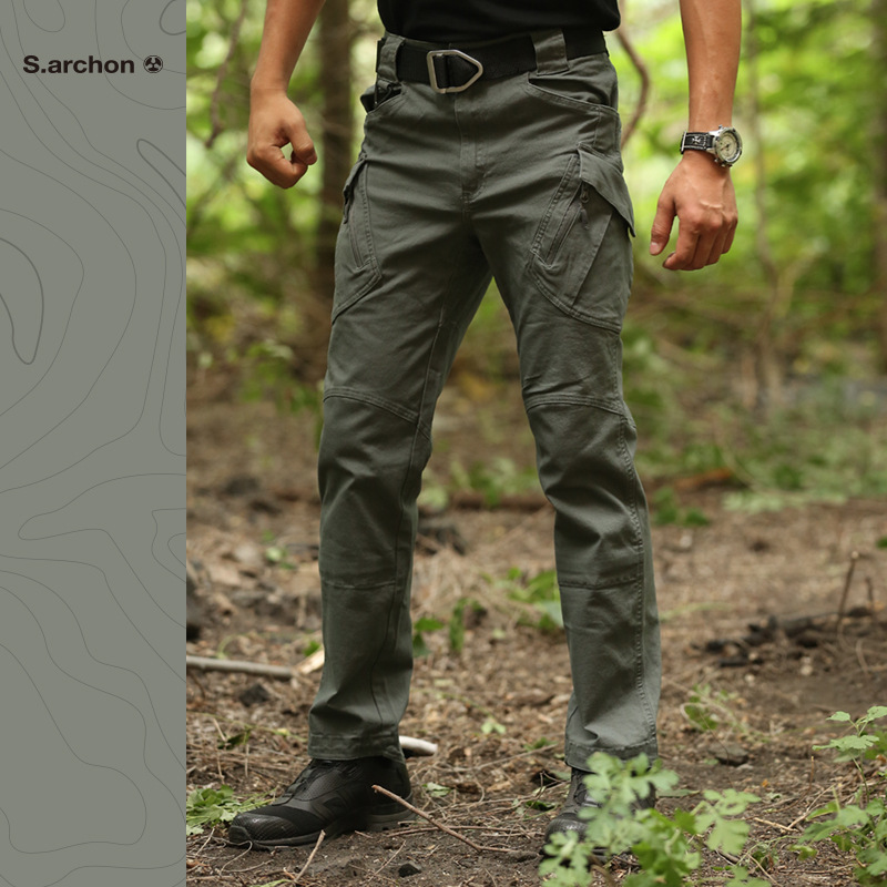 Image 4 - IX9 tactical mens pants Cargo casual Pants Combat SWAT Army  active Military work Cotton male Trousers mensCargo Pants   -