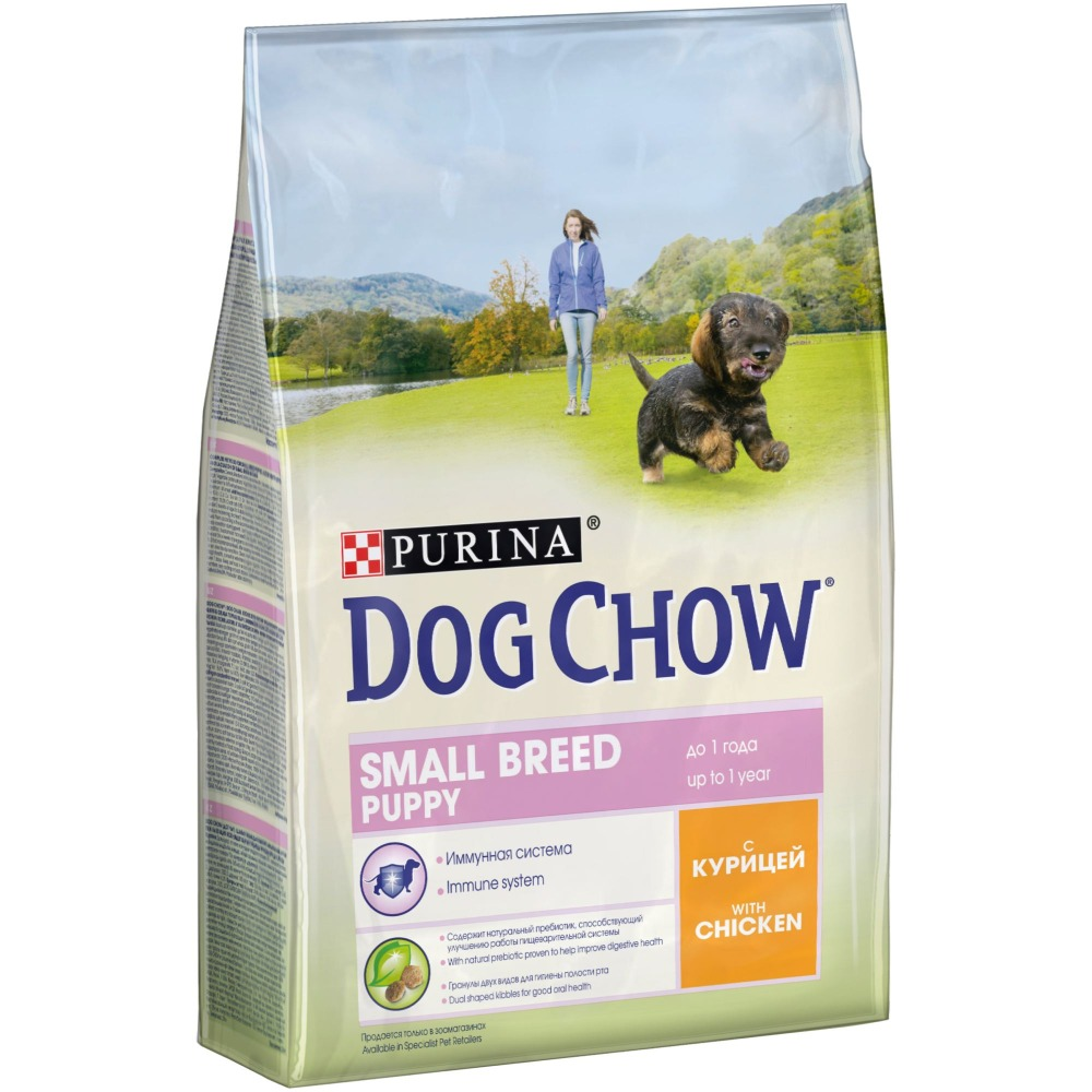 Dog Chow dry food for puppies of small breeds up to 1 year, with chicken, 10 kg.