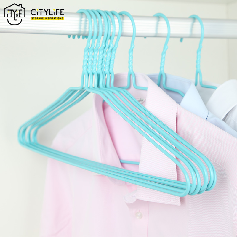 10 pieces/multiple anti-skid plastic hangers save space organizers dry clothes rack hangers J-8034