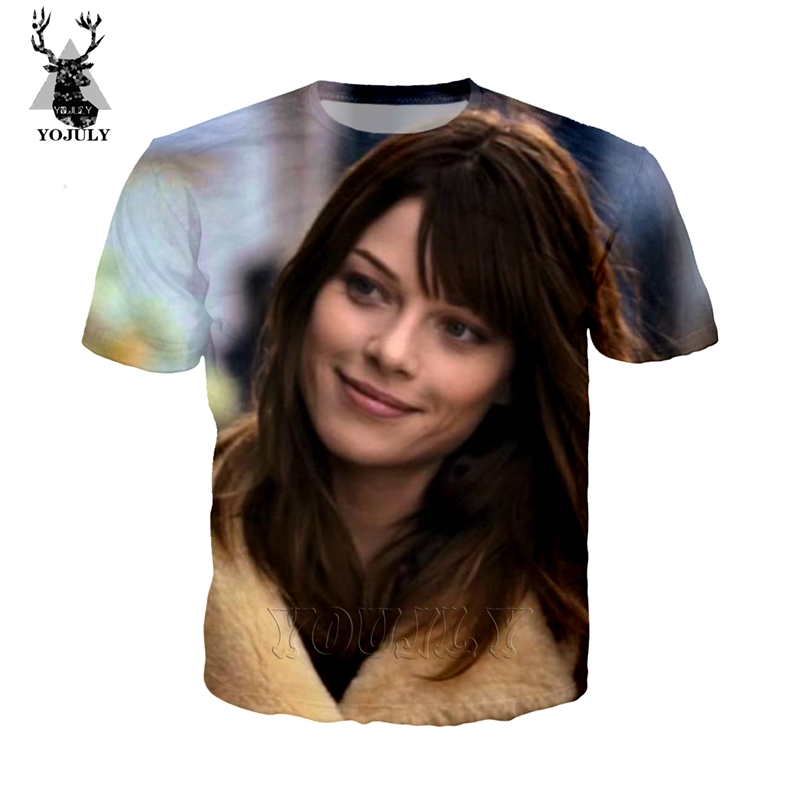 Actor Lauren German 2019 summer new men's women's T-shirt 3D printing streetwear O-neck Harajuku shirt stranger things TOP A71