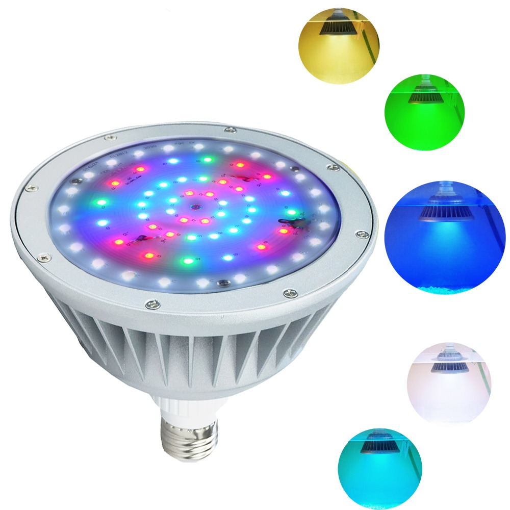 4pcs High Power 7 RGBW 4-in-1 Multi-Color LED Marine Dock Fishing Transom Underwater Lights for Boat Yacht 316G SS