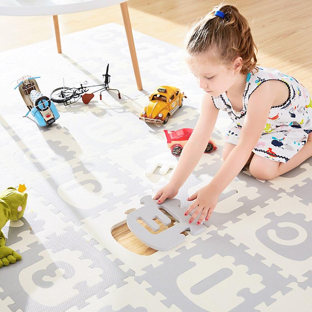 Train alphanumérique enfant puzzle Pad bébé chambre antidérapant tapis de jeu 30*30*1.4 cm