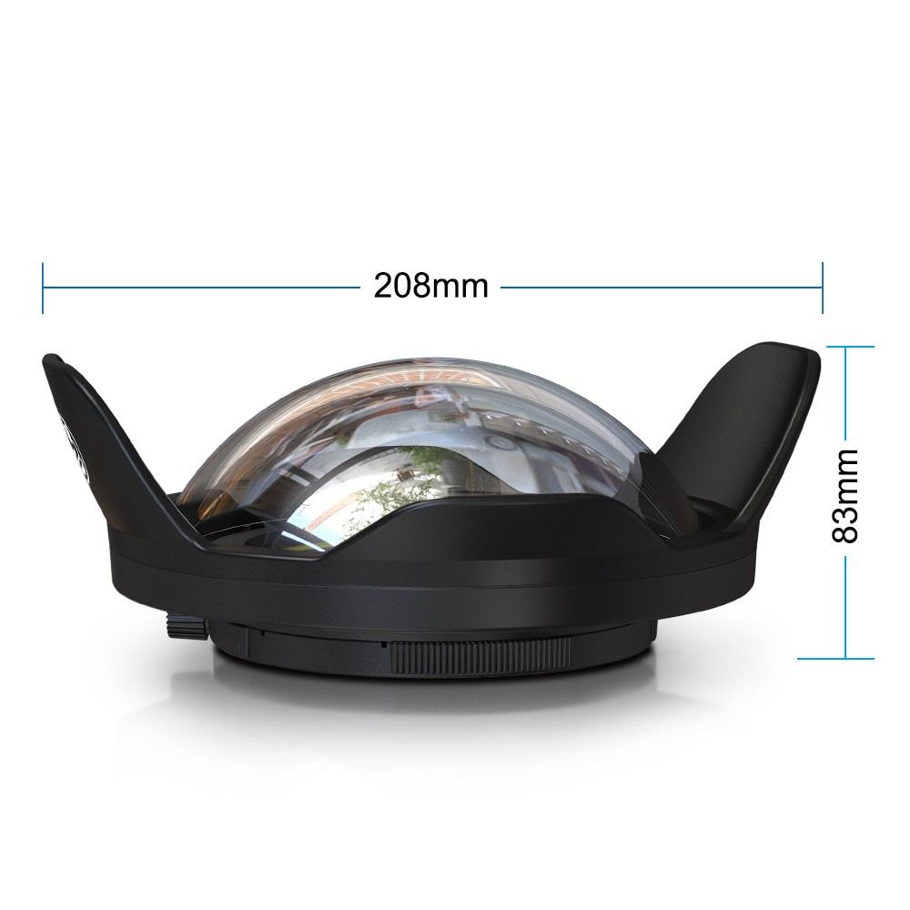 WA-007 objectif de caméra grand Angle 67mm 0.7x Interface pour les gens de mer Meikon logement plongée sous-marine Fisheye