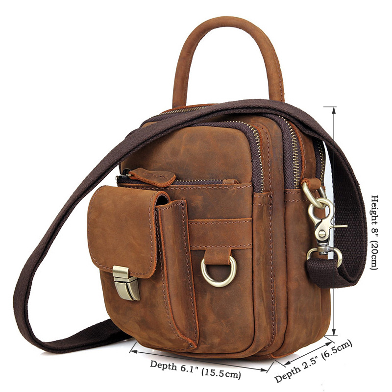 Men 39 s Messenger Bags Genuine Leather Shoulder Bag for Man Business Brand Handbag Travel Mini Small Vintage Male Crossbody Bags in Crossbody Bags from Luggage amp Bags