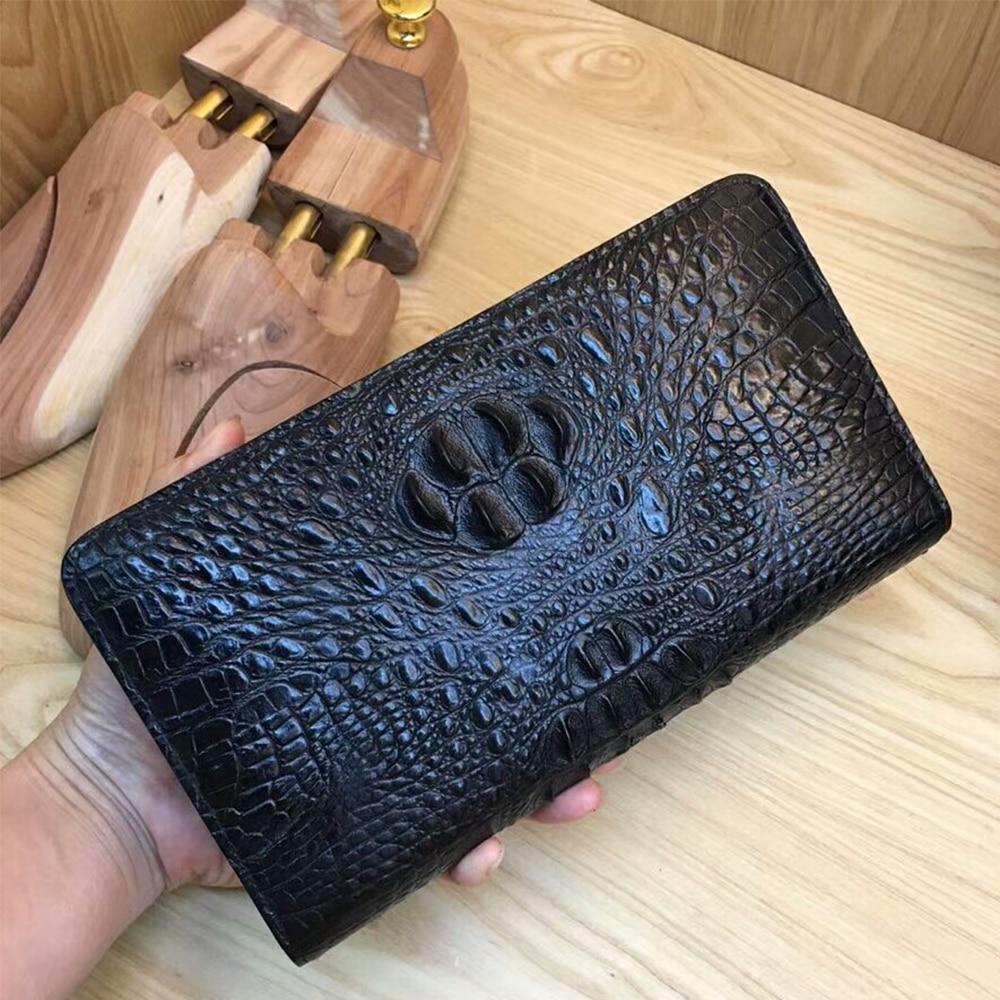 Стильный кожаный ручной Крокодил кожа мужчины кошельки портмоне мужские деньги кошельки Новый классический шаблон дизайнер кошелек