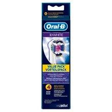 Сменные насадки для зубной щетки Oral-B 3D White, 4 шт.