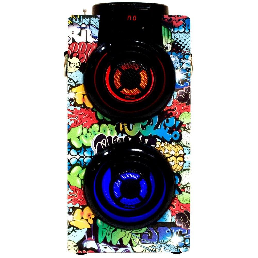 Bluetooth динамик мощная портативная большая мощность 20 Вт MP3/радио/USB светодиодный светильник дешевая ручка управления