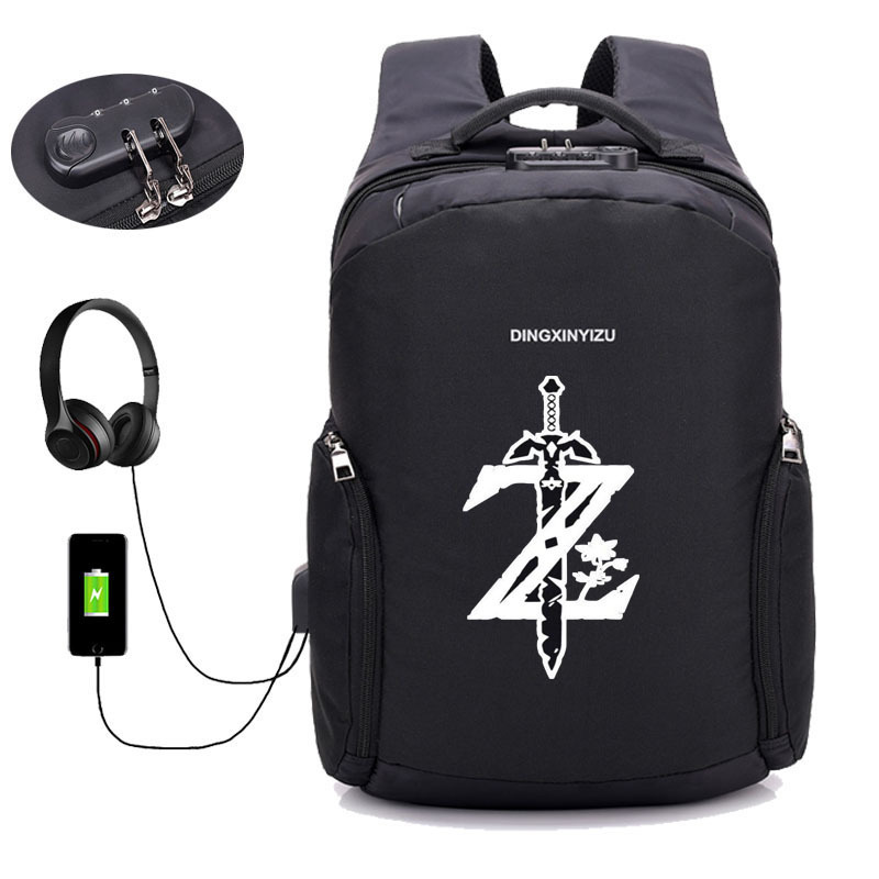 Game Breath of the wild Breath of the Wild backpack Anti theft USB Charging Backpack Book