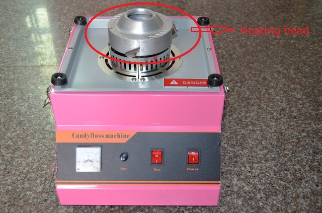 New 1Pcs 220v Heat Head of Cotton Candy Machine Spare Part Replacements MF Candy Floss Machine Spare Parts
