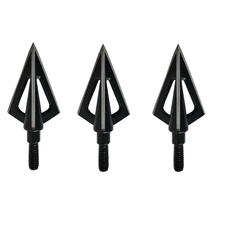Image 2 - 20pcs Hunting Arrowhead 100Gr Steel Broadhead 3 Blades Arrow Point Target Shooting Tips Crossbow Compound Recurve Bow Head-in Bow & Arrow from Sports & Entertainment