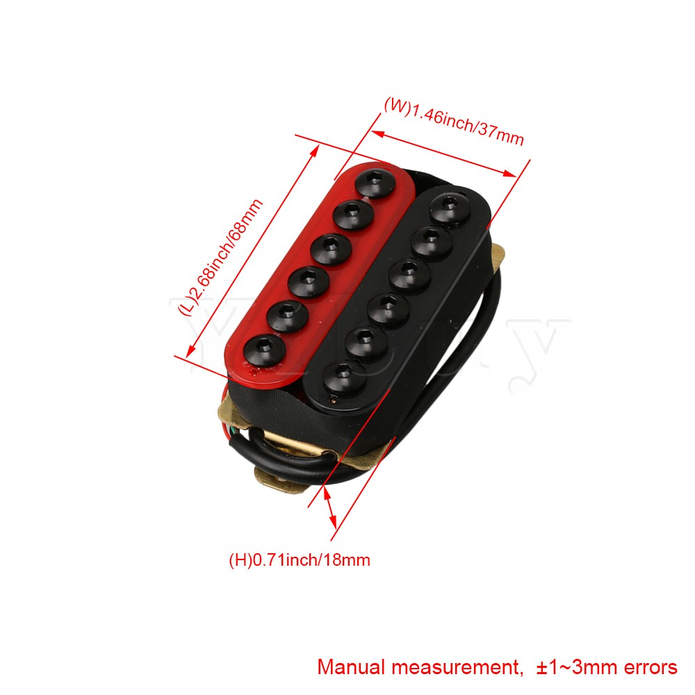 yibuy double coil humbucker electric guitar neck bridge pickup red and black in guitar parts accessories from sports entertainment on aliexpress com  [ 1000 x 1000 Pixel ]