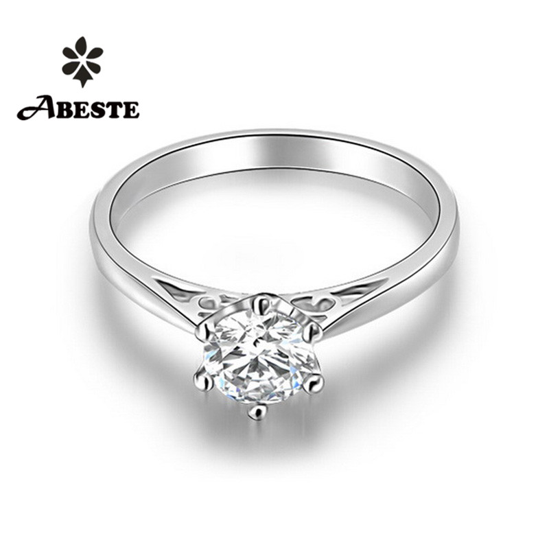 ANI 18K White/Rose/Yellow Gold (AU750) Wedding Ring 0.3 CT Certified SI Round Cut Real Natural Diamond Ring 6 Claws Bague Femme new pure au750 rose gold love ring lucky cute letter ring 1 13 1 23g hot sale