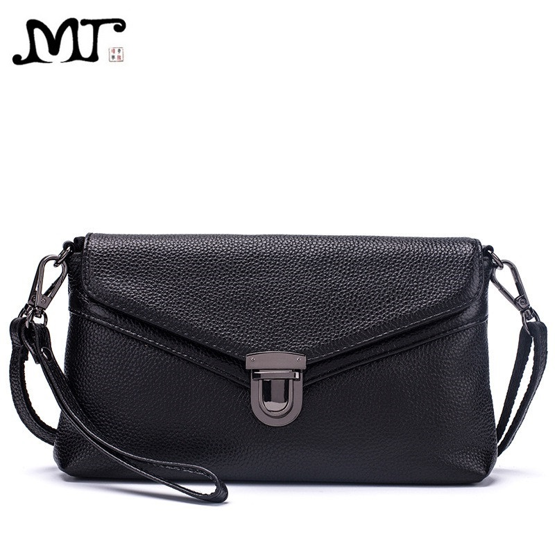 MJ Brand Women Handbag Fashion Genuine Leather Envelope Day Clutch Female Flap Messenger Bag Small Buckle Crossbody Shoulder Bag herald fashion quality women day clutches female leather shoulder bag vintage solid envelope lady s messenger bag crossbody bag