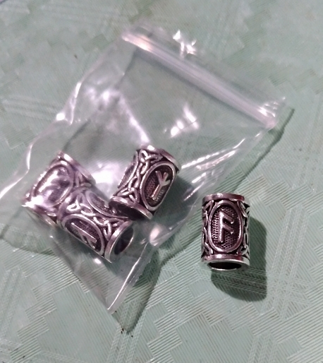 Antique Viking Rune Beads photo review