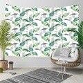 Еще тропические синие зеленые листья цветочные цветы линии 3D печать декоративные хиппи богемный настенный гобелен с пейзажем настенное ис...