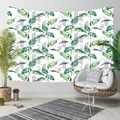 Más Tropical azul verde hojas flores líneas 3D Impresión de elefante bohemio del colgante de pared paisaje tapiz pared arte
