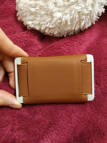 New Men Credit Card Holder Crazy Horse PU Leather Metal ID Bank RFID Card Holders Card Case Cash Coin Purses Mini Wallet photo review
