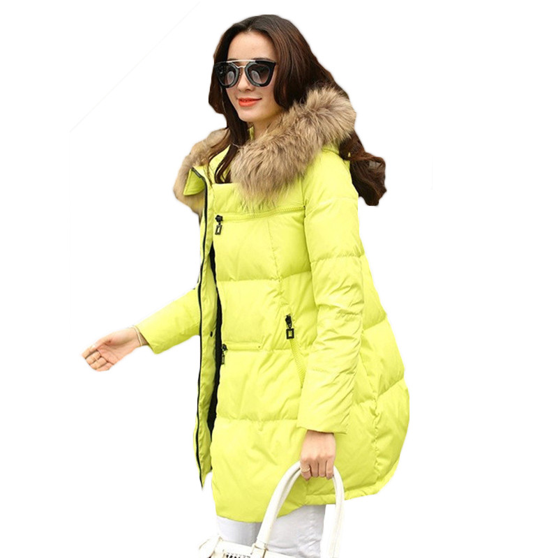 Large Size 5XL Hooded Cotton Jacket Women Winter Coats 2018 Loose Medium Long Female   Parkas   Warm Big Fur Collar Outerwear LQ117