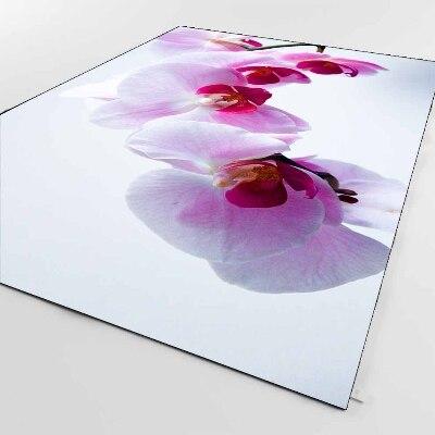 Else White Floor On Pink Orchid Flowers Floral 3d Print Non Slip Microfiber Living Room Decorative Modern Washable Area Rug Mat