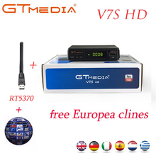 GTMedia V7S HD DVB-S2 receptor DVB S2 Satellite Receiver Full 1080P Support powervu Biss Key Decoder Set top box PK freesat V7