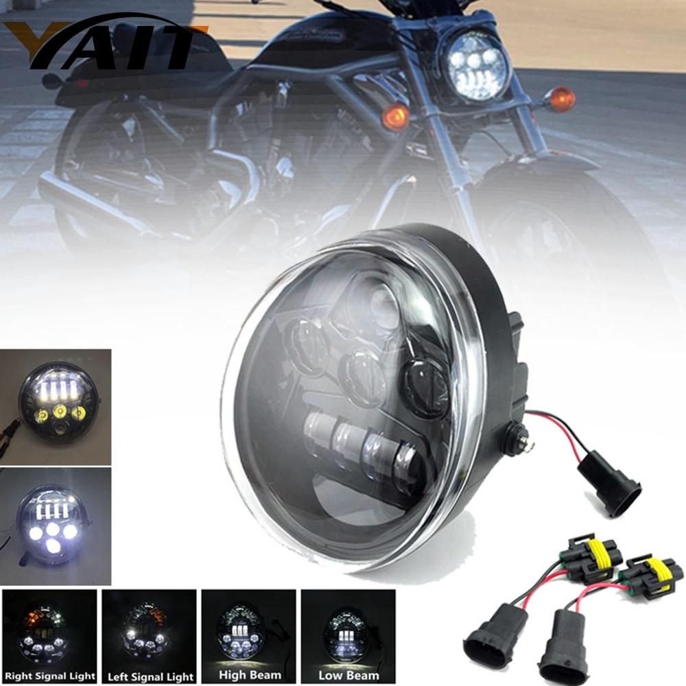 Yait Motorcycle Aluminum Led Headlight For Harley V Rod VROD VRSCA VRSC Headlight VRSC/V-ROD LED Headlight Lamp dot sae e9 vrod harley black headlight lamp for harley v rod headlight vrod vrsca vrsc headlight vrsc v rod motorcycle vrod led