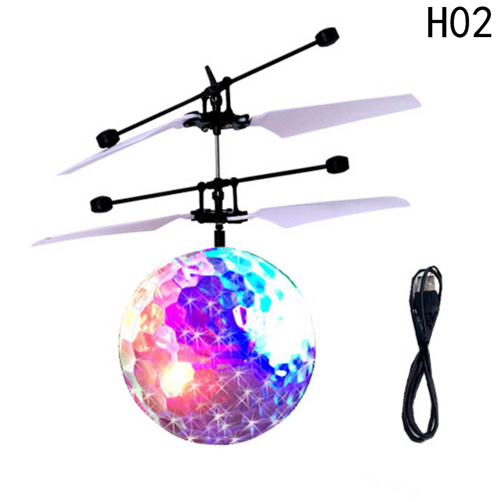 Children Mini Helicopter Toy Drones Flash Induction Luminous Ball Aircraft Lighting Sensing Hand Remote Control Toy