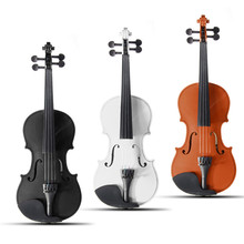Zebra 4/4 Violin Natural Acoustic Basswood Face Board Violin For Musical Stringed Instruments with Case Box