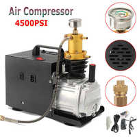 High Pressure 220V Electric InflatorPump PCP Air Compressor 4500 PSI Car Air Pump Auto Compressor for 40amp Paintball Air Rifles