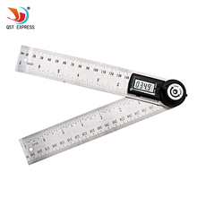 QSTEXPRESS 2 IN 1 digital angle ruler 360 degree 200mm electronic digital angle meter angle