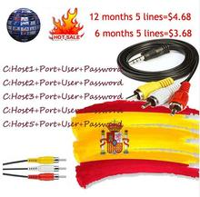 Europe HD 5 lines cable 1 Year CCcams for Satellite tv Receiver WIFI FULL HD Support Italy/Spain/French/Germ Cccams Server