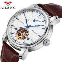 779255afd4a AILANG high quality Tourbillon automatic mechanical watch business brown  leather belt men watch. UTB8n1CyjBahduJk43Jaq6zM8FXaP
