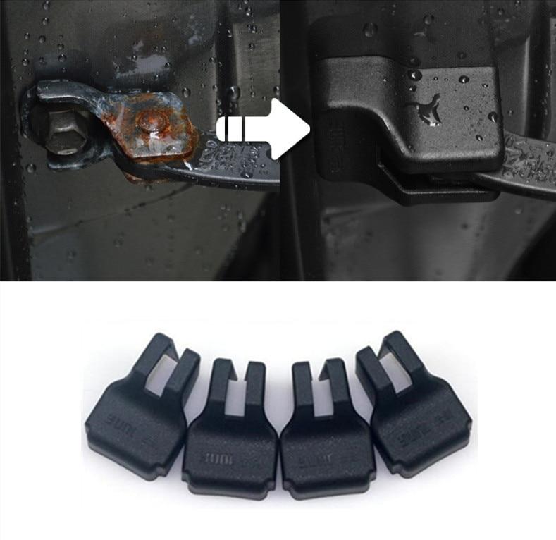 4pcs Car Styling Car Door Limiting Stopper Covers Case For Hyundai Elantra Tucson Sonata IX35 IX45 Verna Elantra Car Accessories