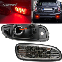 Black Jack Clear Lens LED Rear Bumper Fog Lights Lamp For 06 09 MINI COOPER R56 R57 S