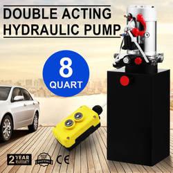 8 Кварт двойного действия гидравлический насос 12 V самосвал металлический резервуар для самосвал