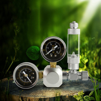 MUFAN CO2 Regulator Coil Plants Solenoid Check Valve Speed Control Valve Bubble Counters CO2 Table For